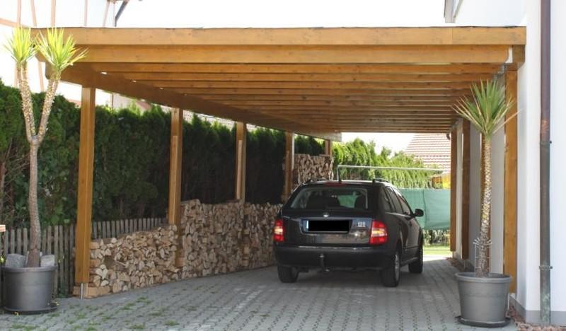 holzbau bambusch caports berdachungen schuppen. Black Bedroom Furniture Sets. Home Design Ideas